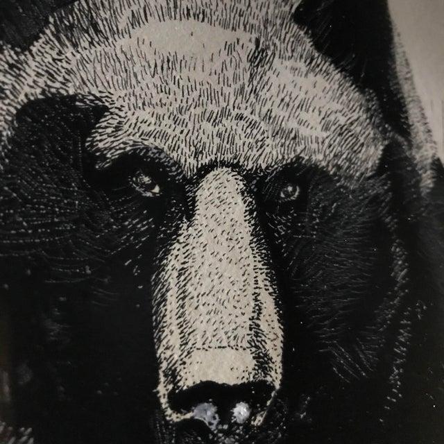 Vintage Ink & Watercolor Black Bear Painting - Image 5 of 10