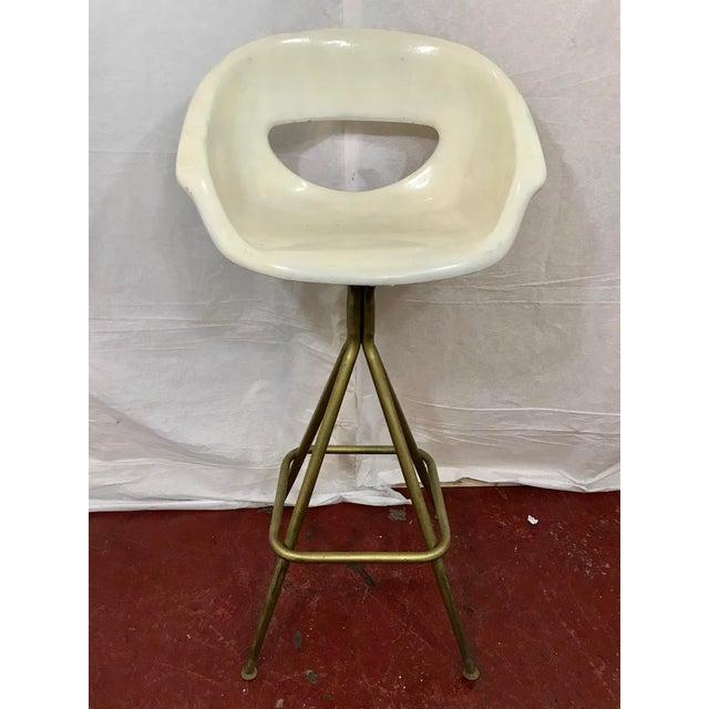 Vintage Mid Century Barstools - Set of 4 For Sale - Image 6 of 10
