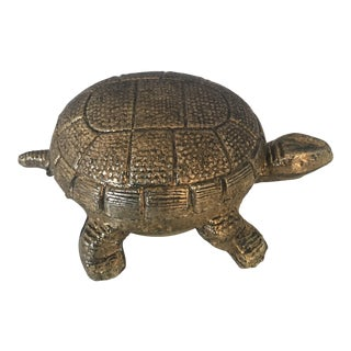 German Brass Turtle Alarm Clock