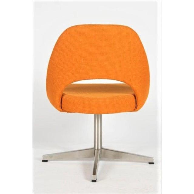 Knoll Eero Saarinen for Knoll X-base Swivel Side Chair For Sale - Image 4 of 6