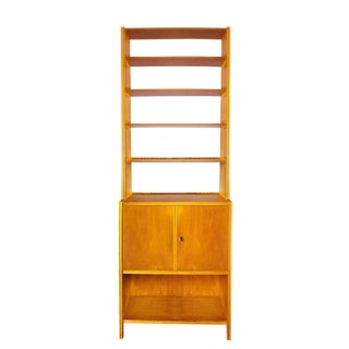 1950s Bookcase, Maple Wood, Two Doors and Five Shelves, Italy For Sale