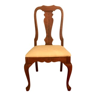 1960s Vintage Fancher Queen Anne Style Dining Chair For Sale
