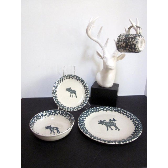 Faux White Reindeer Deer Antlers Bookshelf Decor - Image 9 of 11