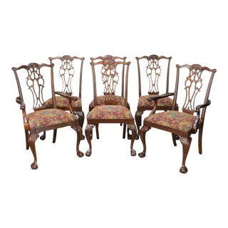 Ethan Allen 18th Century Mahogany Collection Chippendale Style Dining Chairs - Set of 6