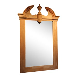 Large Scale Raw Wood Mirror For Sale
