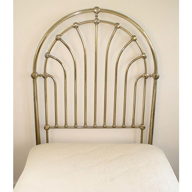 Nickel Clad Twin Bed For Sale - Image 4 of 7