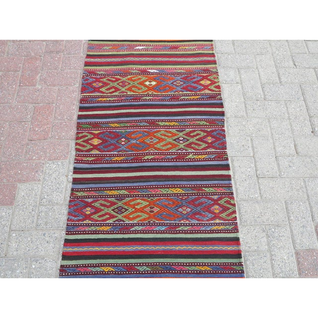 "Rug & Kilim Vintage Turkish Kilim Rug-2'2'x4'2"" For Sale - Image 4 of 13"