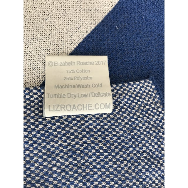 Liz Roache Nantucket Throw, Blue For Sale In Boston - Image 6 of 8