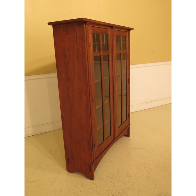 1980s 1980s Arts & Crafts Stickley Cherry Bookcase For Sale - Image 5 of 13