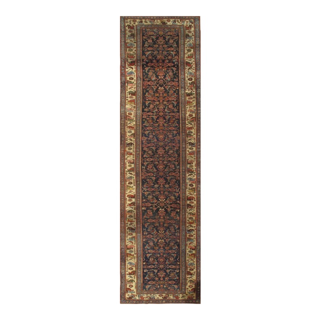 """Pasargad NY Antique Persian Bidjar Hand-Knotted Rug - 4'3"""" x 16'3"""" For Sale"""