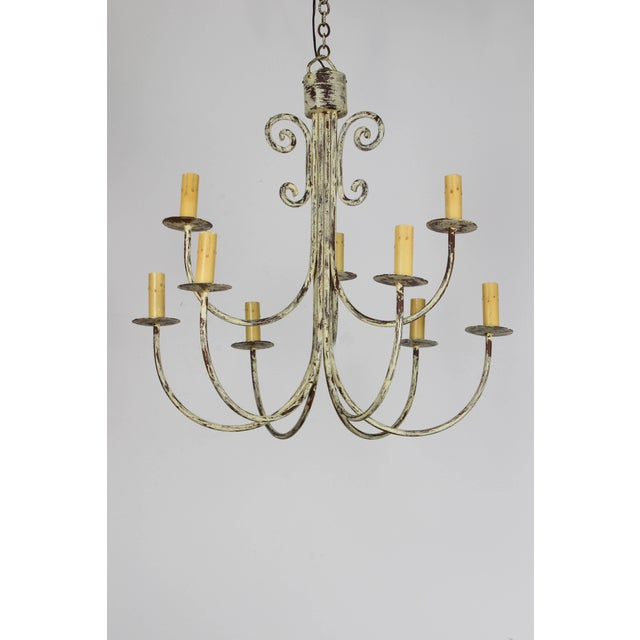 Vintage Mid-Century Rustic Chandelier For Sale In Boston - Image 6 of 6