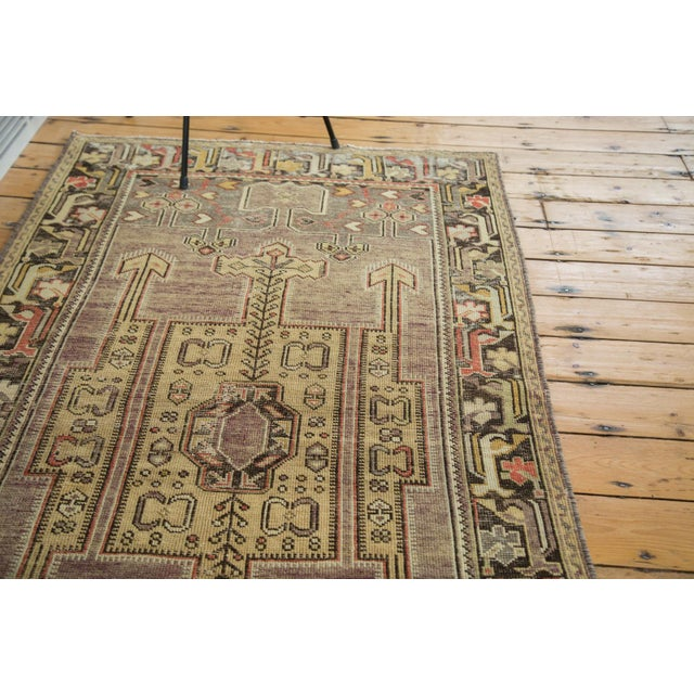 "Vintage Distressed Oushak Runner - 3'8"" X 6'10"" - Image 9 of 10"