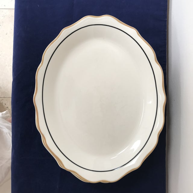 Yellow 20th Century Traditional Syracuse Oval Ivory Serving Plates - Set of 4 For Sale - Image 8 of 10