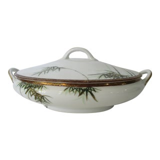 Vintage Kutani Oval Serving Bowl With Lid For Sale