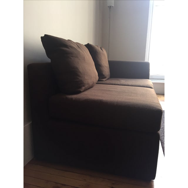 Mitchell Gold Brown Modular Loveseat - Image 4 of 6