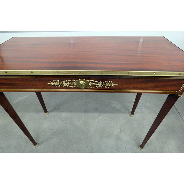 Hollywood Regency Directoire Style Console Table For Sale - Image 3 of 7