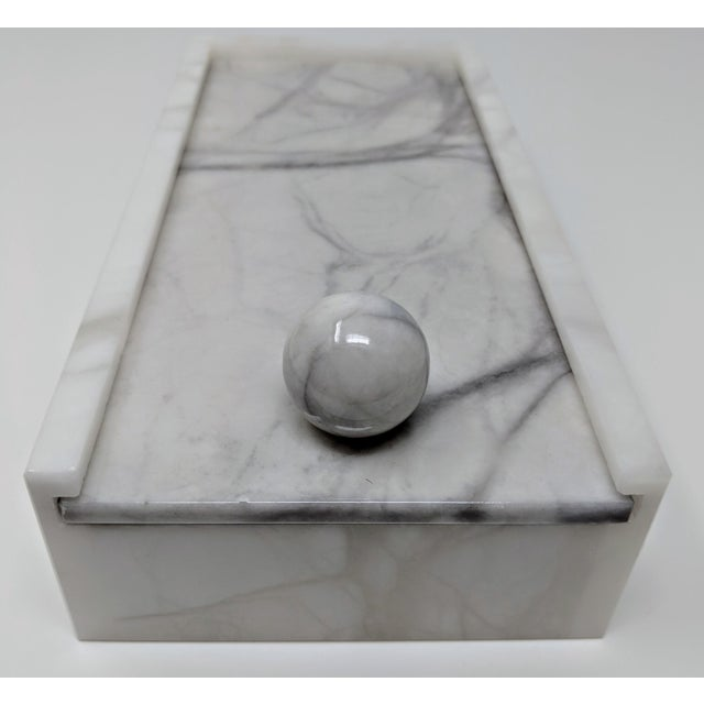 Hermes Inspired Alabaster Box For Sale In Providence - Image 6 of 12