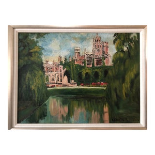 1935 Impressionist Wonderful Oil on Board Painting For Sale