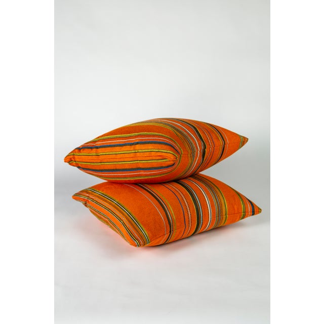 """Wonderfully eccentric pair of 18"""" x 18"""" pillows by Paul Smith in Maharam Point. This to the trade textile is 97% rayon and..."""