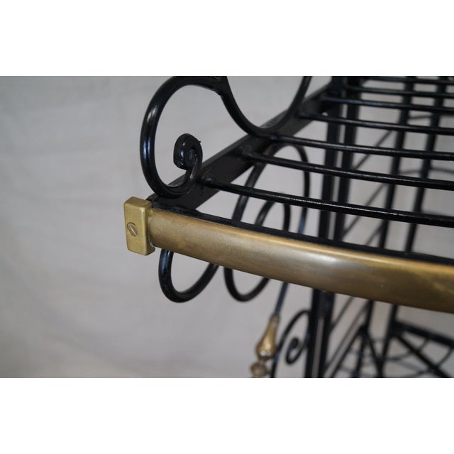 Quality Vintage French Iron Corner Bakers Rack - Image 2 of 10