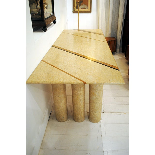 """Italian Late 1970s """"Colonato"""" Marble Dining Table Designed by Mario Bellini For Sale - Image 3 of 5"""