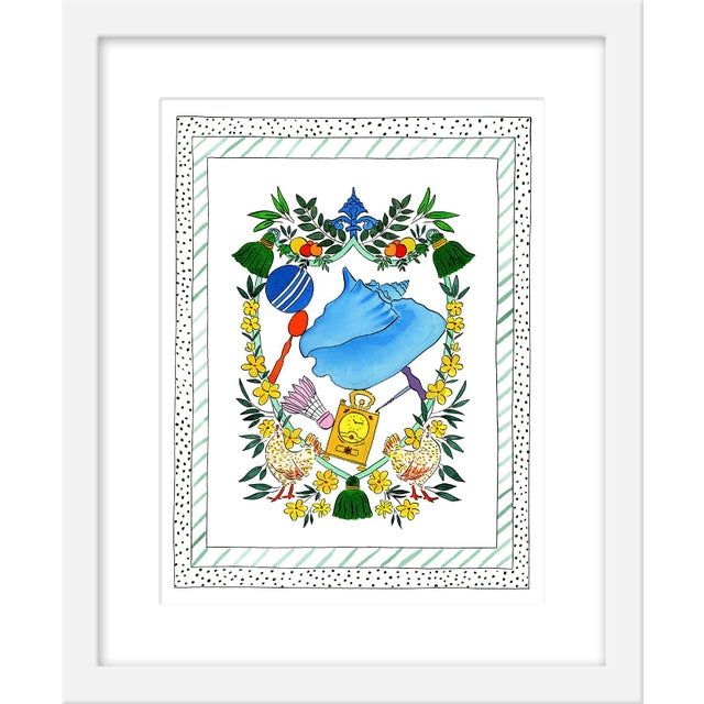 """Contemporary Medium """"'A Shell Proper' Heraldry"""" Print by Rachel Rogers, 17"""" X 21"""" For Sale - Image 3 of 3"""