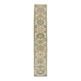 Contemporary Persian Sultanabad Rug Runner - 03'05 X 18'04 For Sale