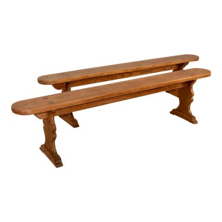Pair of 19th C French Benches For Sale