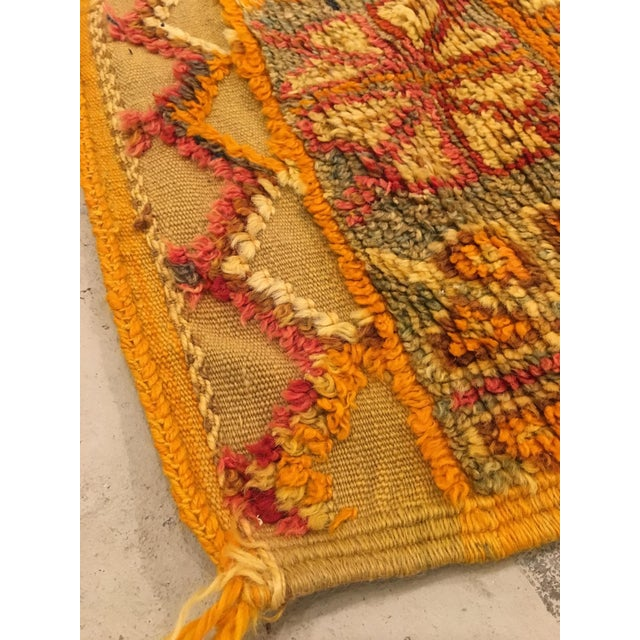 1950s Gold Multi Moroccan rug For Sale - Image 5 of 11