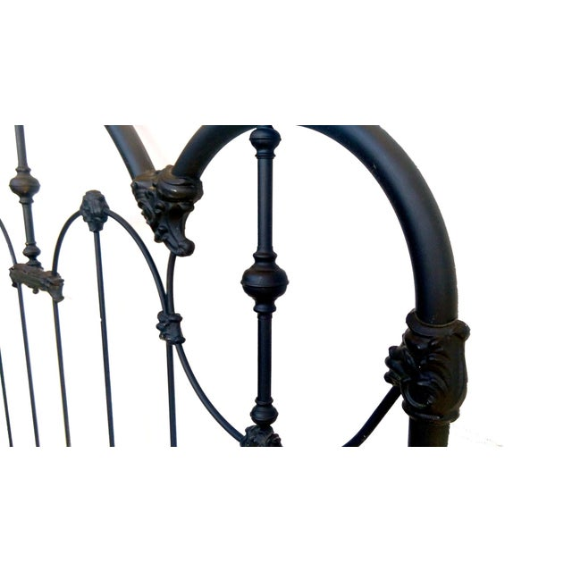 Vintage Wrought Iron Queen Headboard & Footboard - Image 7 of 10
