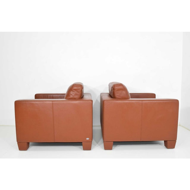 2000 - 2009 De Sede Leather Lounge Chairs- A Pair For Sale - Image 5 of 10