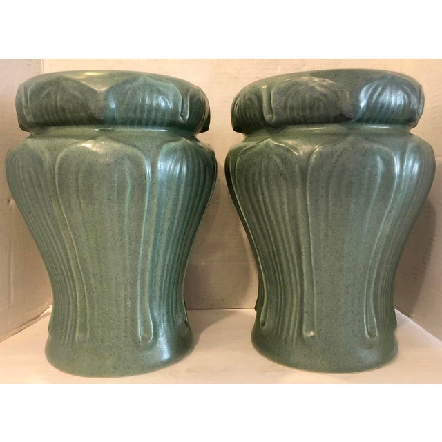 Pair Art Nouveau Style Vases by Haeger For Sale In Miami - Image 6 of 6