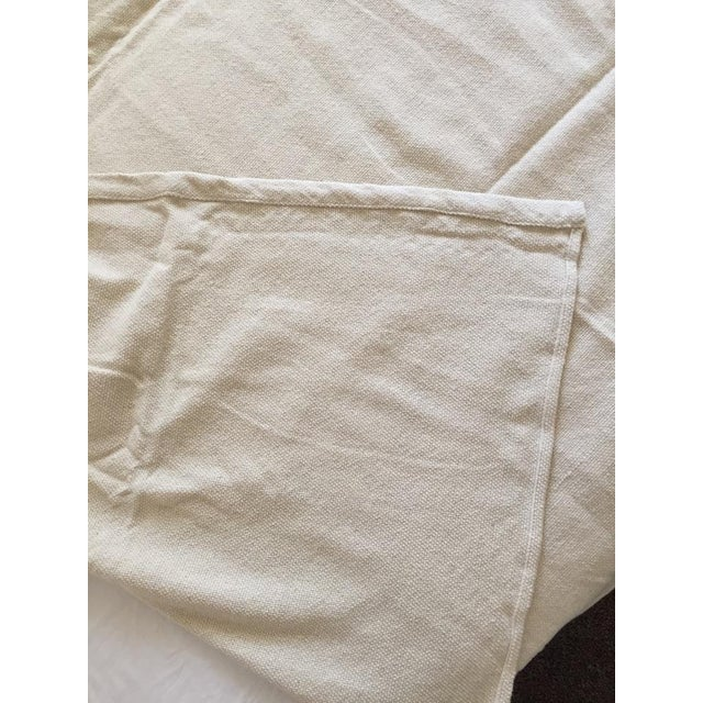 Natural Merino Wool Drapes/Bed Covers – A Pair For Sale In San Francisco - Image 6 of 7