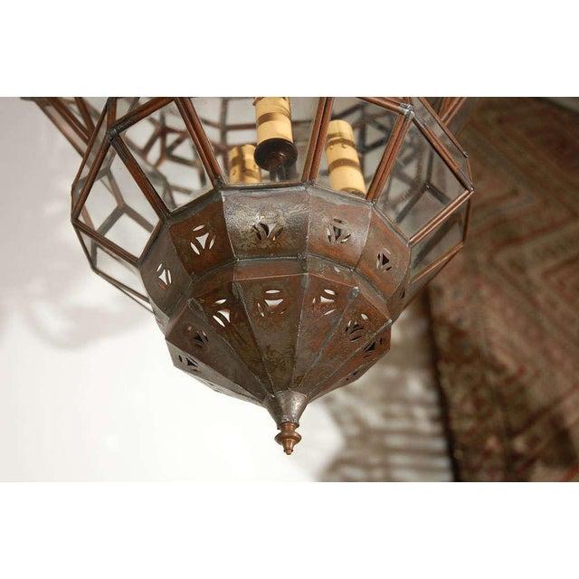 Metal Granada Moroccan Clear Glass Pendant For Sale - Image 7 of 10