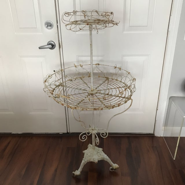 Antique French Tiered Wire Stand - Image 2 of 9