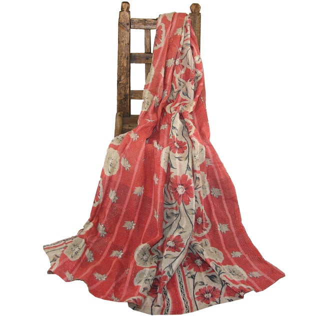 Vintage Kantha Quilt - Image 3 of 3