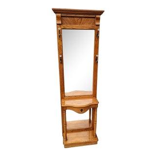 1960s Pulaski Furniture Mirrored Hall Tree For Sale