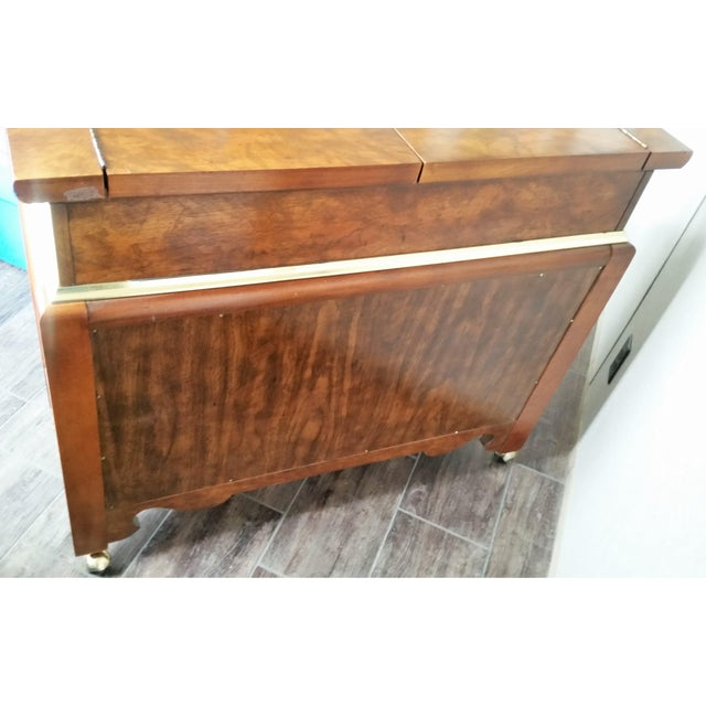 Bassett Furniture Oriental-Inspired Rolling Credenza Sideboard For Sale - Image 4 of 13