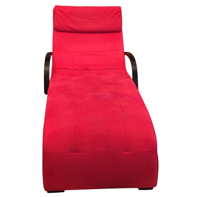 Dania Red Giselle Chaise Lounge - Image 1 of 6