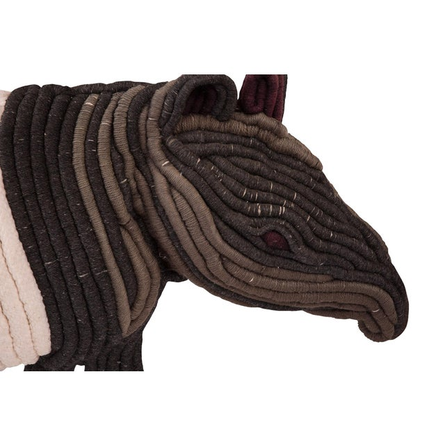 1970s Large-Scale Fiber Art Anteater For Sale - Image 5 of 6