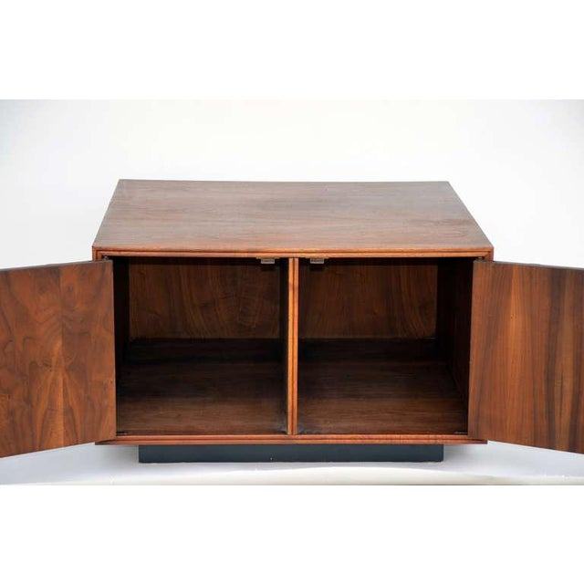 1950s Rare Carved Walnut Cabinet by Brown Saltman For Sale - Image 5 of 10