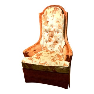 Broyhill Hollywood Regency High Back Lounge Chair For Sale