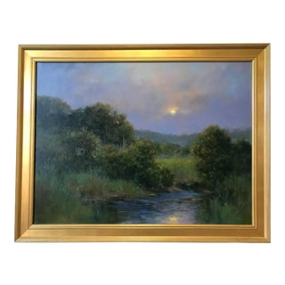 'Toward Evening in New England' Oil Painting by Katherine Simmons For Sale