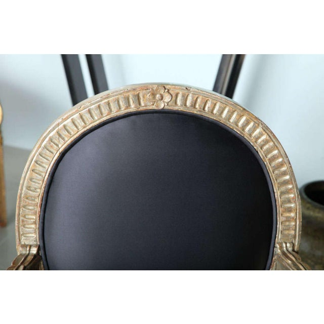 Rare Set of Four Italian Neoclassic Silver Gilt Armchairs - Image 7 of 8