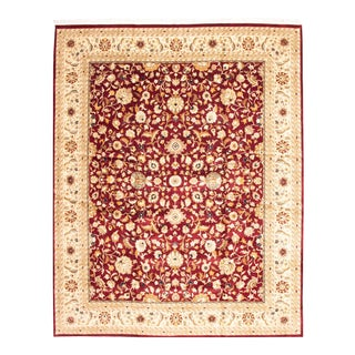 Classic Red Hand-Knotted Rug For Sale
