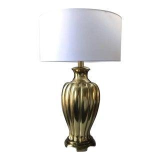 Mid-Century Signed Paul Hanson Brass Lamp For Sale