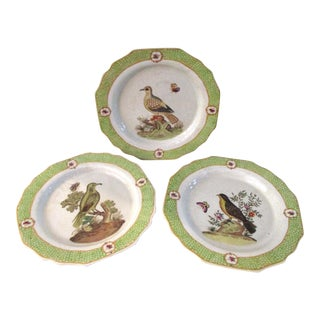 Chinese Bird & Flora Display Plates - Set of 3 For Sale