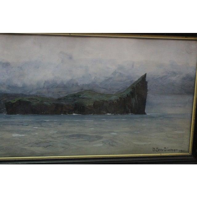 Zeno Diemer Harbor Scene Painting For Sale In New York - Image 6 of 8