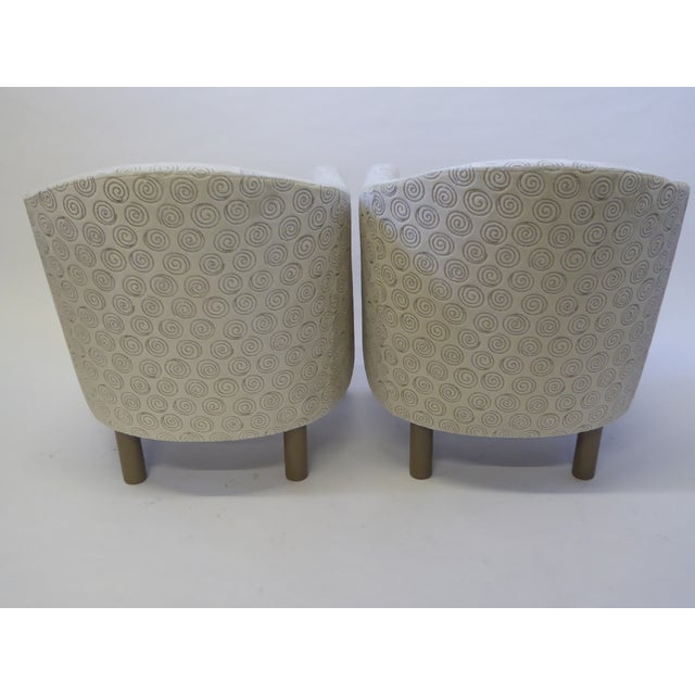 Textile Pair of 1970s Brayton International Collection Modern Club Tub Armchairs For Sale - Image 7 of 13