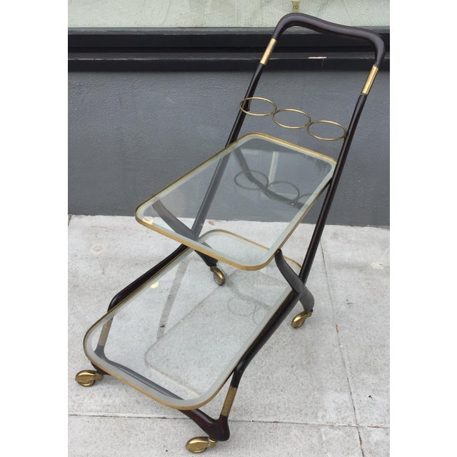 1950s Vintage Italian Cesare Lacca Bar Cart For Sale In San Francisco - Image 6 of 10